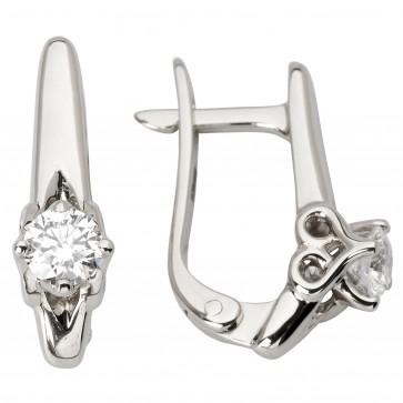 Сережки з 1 діамантом 922-1180