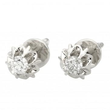 Сережки з 1 діамантом 922-1288
