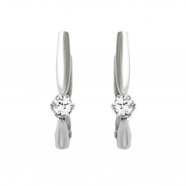 Сережки з 1 діамантом 922-1351