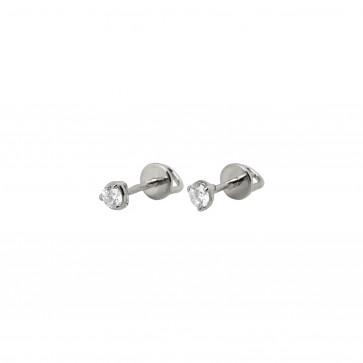 Сережки з 1 діамантом 922-1379