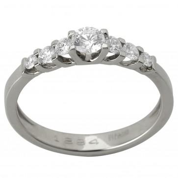 Каблучка з декількома діамантами 941-1231