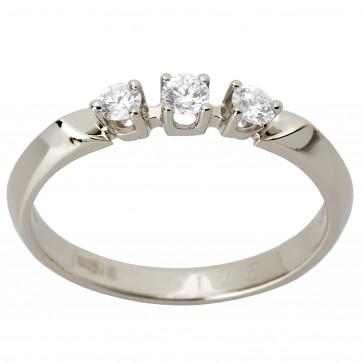 Каблучка з декількома діамантами 941-1288