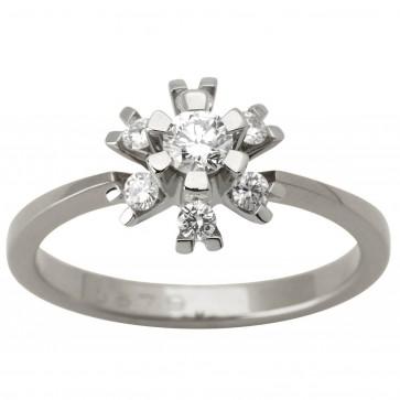 Каблучка з декількома діамантами 941-1626