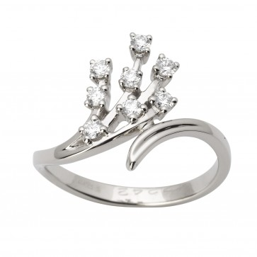 Каблучка з декількома діамантами 941-1637