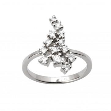 Каблучка з декількома діамантами 941-1648