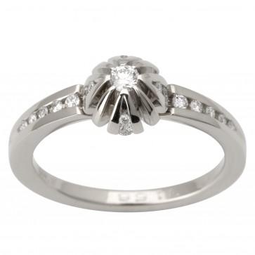 Каблучка з декількома діамантами 941-1656