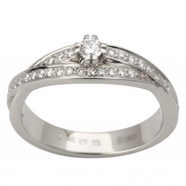 Каблучка з декількома діамантами 941-1663