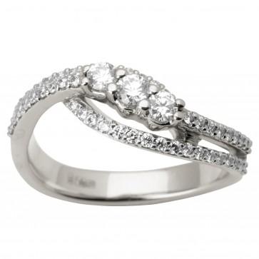 Каблучка з декількома діамантами 941-1673