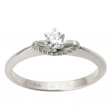 Каблучка з декількома діамантами 941-1734