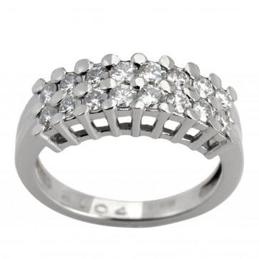 Каблучка з декількома діамантами 941-1750