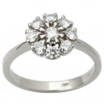 Каблучка з декількома діамантами 941-1854