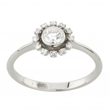 Каблучка з декількома діамантами 941-2207
