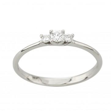 Каблучка з декількома діамантами 941-2212