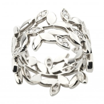 Каблучка з декількома діамантами 941-3037