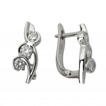 Сережки з декількома діамантами 942-0533