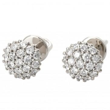 Сережки з декількома діамантами 942-0840