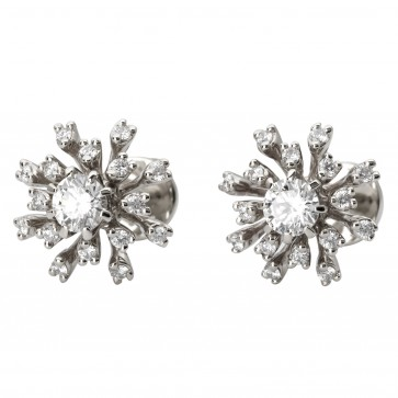 Сережки з декількома діамантами 942-1086