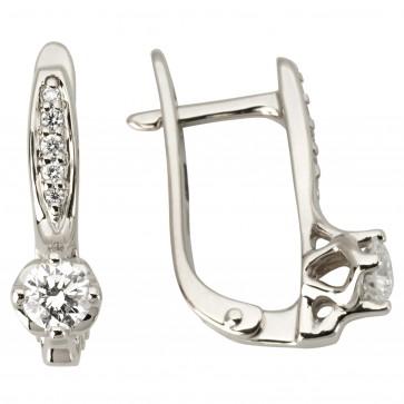 Сережки з декількома діамантами 942-1124