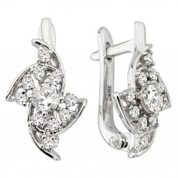 Сережки з декількома діамантами 942-1224