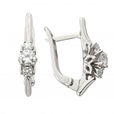 Сережки з декількома діамантами 942-1341