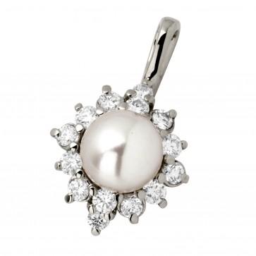 Підвіска з перлиною та діамантами 969-0249