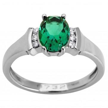 Каблучка з діамантами та кольоровим камінням 981-0954