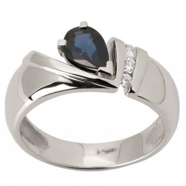 Каблучка з діамантами та кольоровим камінням 981-1451