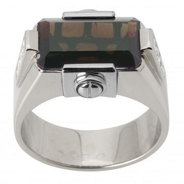 Перстень з діамантами та кольоровим камінням 981-1463
