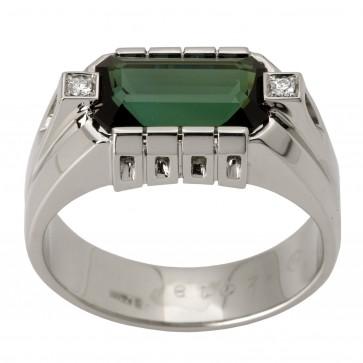 Перстень з діамантами та кольоровим камінням 981-1464
