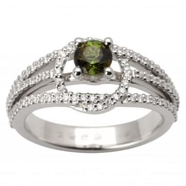 Каблучка з діамантами та кольоровим камінням 981-1669