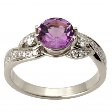 Каблучка з діамантами та кольоровим камінням 981-1735