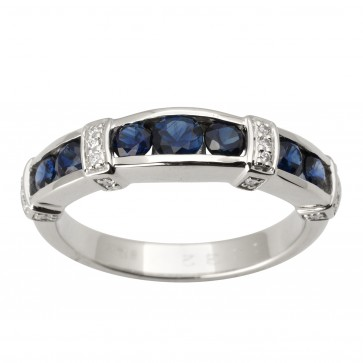 Каблучка з діамантами та кольоровим камінням 981-1745