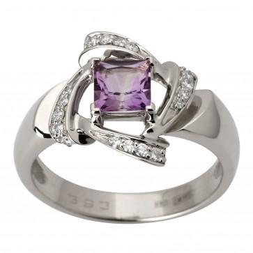 Каблучка з діамантами та кольоровим камінням 981-1791