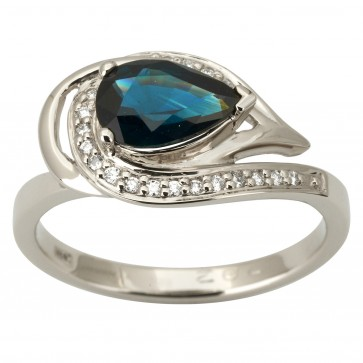 Каблучка з діамантами та кольоровим камінням 981-1871