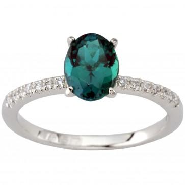 Каблучка з діамантами та кольоровим камінням 981-1910