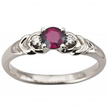 Каблучка з діамантами та кольоровим камінням 981-1940