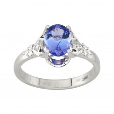 Каблучка з діамантами та кольоровим камінням 981-1986