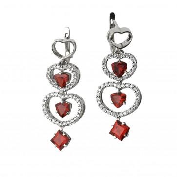 Сережки з діамантами та кольоровим камінням 982-0518