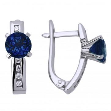 Сережки з діамантами та кольоровим камінням 982-0570