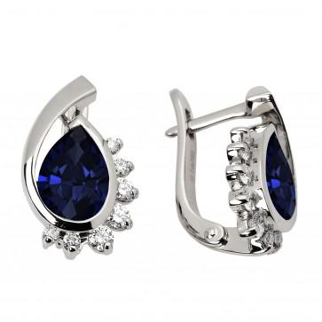 Сережки з діамантами та кольоровим камінням 982-0781