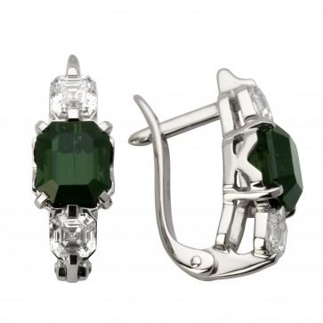 Сережки з діамантами та кольоровим камінням 982-0922