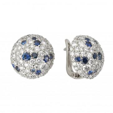 Сережки з діамантами та кольоровим камінням 982-1038