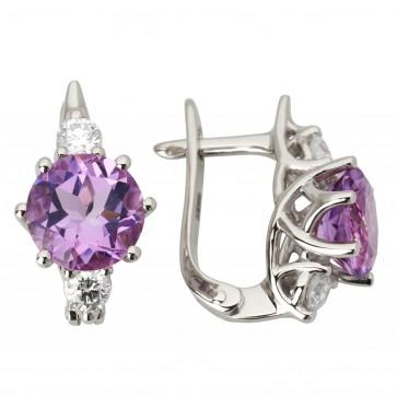 Сережки з діамантами та кольоровим камінням 982-1074