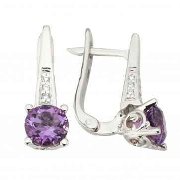 Сережки з діамантами та кольоровим камінням 982-1234