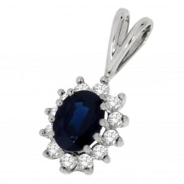 Підвіска з діамантами та кольоровим камінням 989-0097