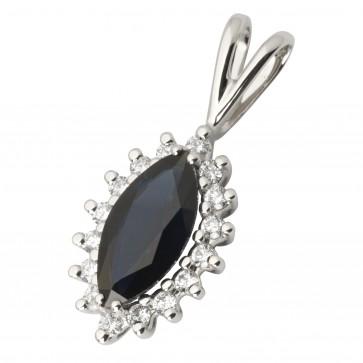 Підвіска з діамантами та кольоровим камінням 989-0379
