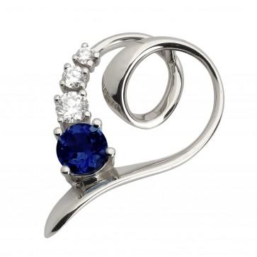 Підвіска з діамантами та кольоровим камінням 989-0479