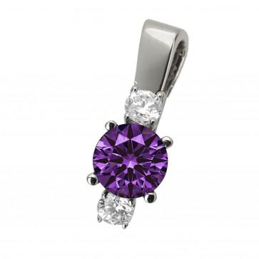 Підвіска з діамантами та кольоровим камінням 989-0508