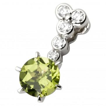 Підвіска з діамантами та кольоровим камінням 989-0555