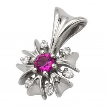 Підвіска з діамантами та кольоровим камінням 989-0567